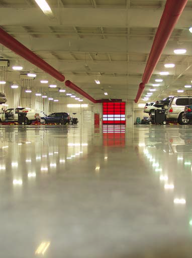 A large retail chain hired Jeffco to polish their floors to a high-sheen.