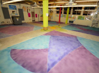A made over staff area in the Phoenix Children's Museum