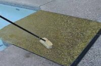 Cleaning exposed aggregate on a pool deck with Surface Gel Tek Profiler