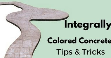 integrally colored concrete tips graphic