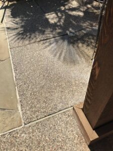 hard water stains on concrete