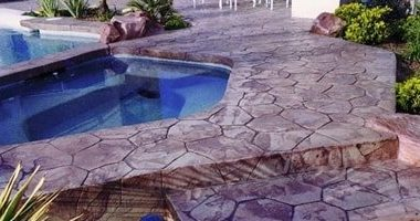use more than one color as the base color, usually different shades of the same color to create realistic stone effect