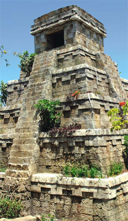 Mayan temple made of concrete.