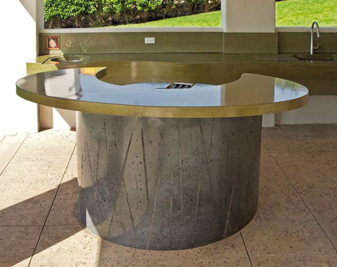 Cheng Awards, concrete bar top circle