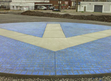Rockettown logo on a parking lot