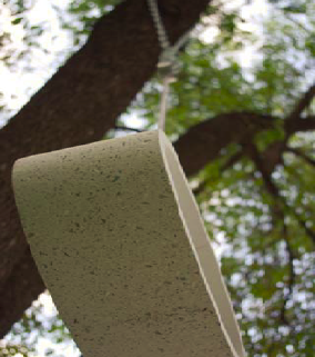 Concrete birdhouse art