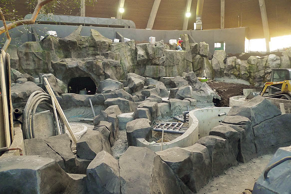Using insulated concrete forms saved the Klassen Concrete crew two weeks of work, but it still took five months to construct 11 massive rockscapes for Toucan Ridge in the Assiniboine Park Zoo, in Winnipeg, Manitoba.