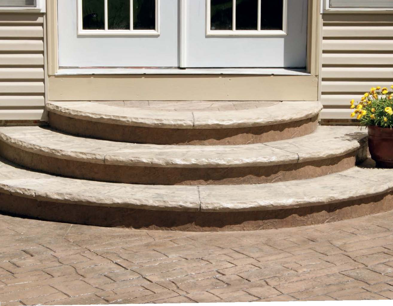 Half-round steps created by Jason Geiser and his crew at a home in Medina, Ohio.