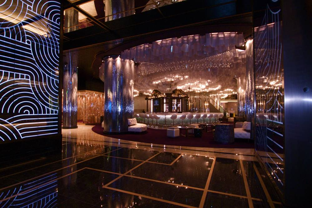 Albie Colotto, who is the director of design for the Friedmutter Group, the executive architect on the Cosmopolitan project, says ArCon's flooring installations also played a key role inside the casino.