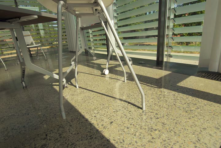 POLISHED CONCRETE Galileo's Pavilion, Johnson County Community College, Overland Park, Kan. Johnson County Community College, Artistic Concrete Surfaces, Studio 804 Inc., Fordyce Concrete Co. Inc.