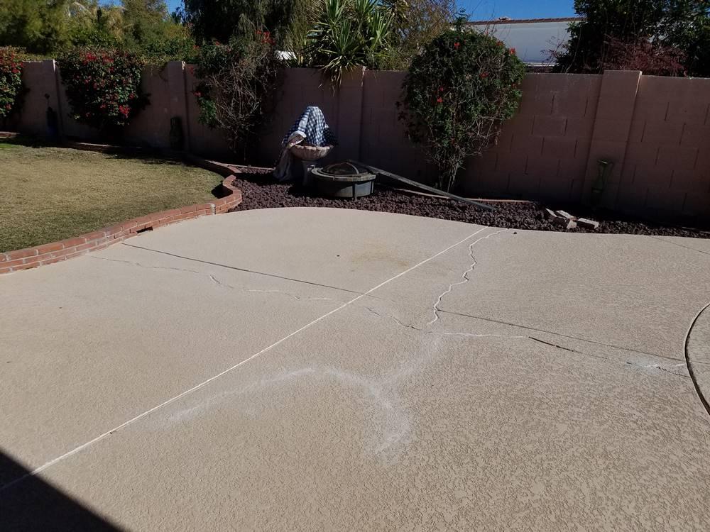 cracking pool deck