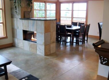 matte sealer on concrete in a kitchen dining room