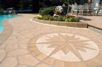 Pool Deck with a compass rose