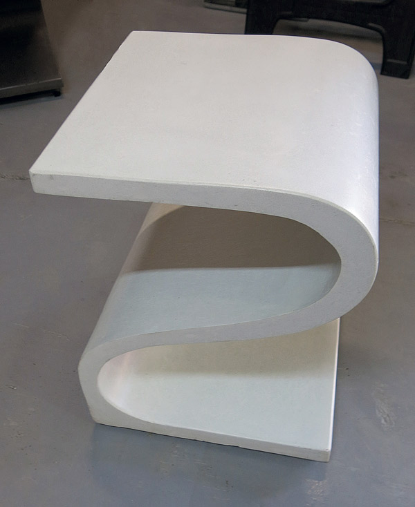 Concrete furniture - S Chair made with GFRC