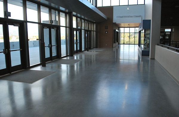 Densified concrete floor at high school - Photos courtesy of Surfacing Solutions Inc.