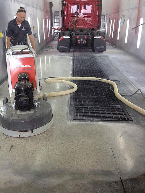 Removing Built-Up Residue from Concrete