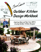 "Are you interested in learning more about Cohen's work? If so, check out ""Scott Cohen's Outdoor Kitchen Design Workbook"" where, step by step, he covers how to cast countertops and embed glass."