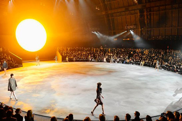 New York fashion show polished concrete
