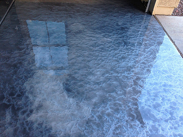Metallic floor coatings