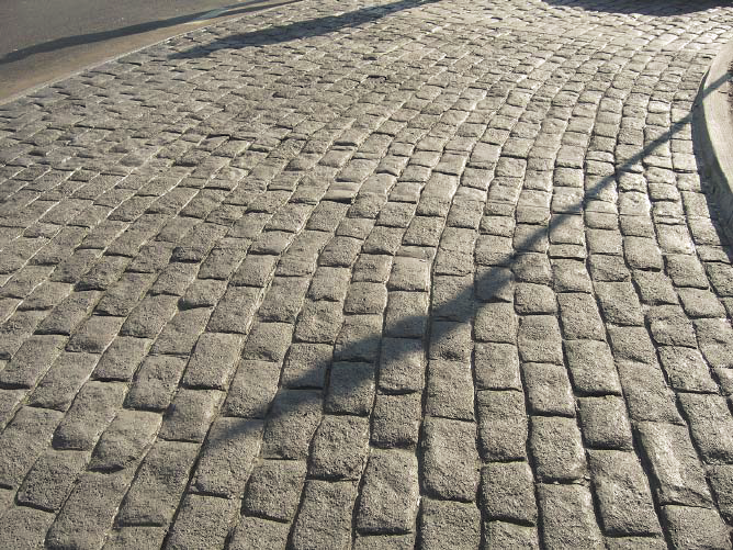 Cobblestone looking concrete stamp.