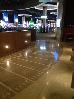 Polished concrete flooring at Dave and Busters