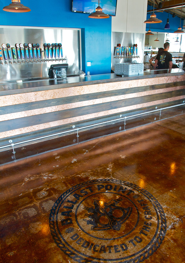 Westcoat stain on a polished concrete brewery floor