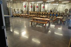 "Polished concrete at a brewery floor - He says 10 to 12 microbreweries have popped up in his area in the last couple of years and he's done floor work in their patron areas for four of them. ""I don't know if there's a direct correlation but most of my customers are pretty young guys who are not big on maintenance,"" he says, adding that maintenance for his polished floors only involves mopping and an occasional new coat of stain guard to keep them looking good."