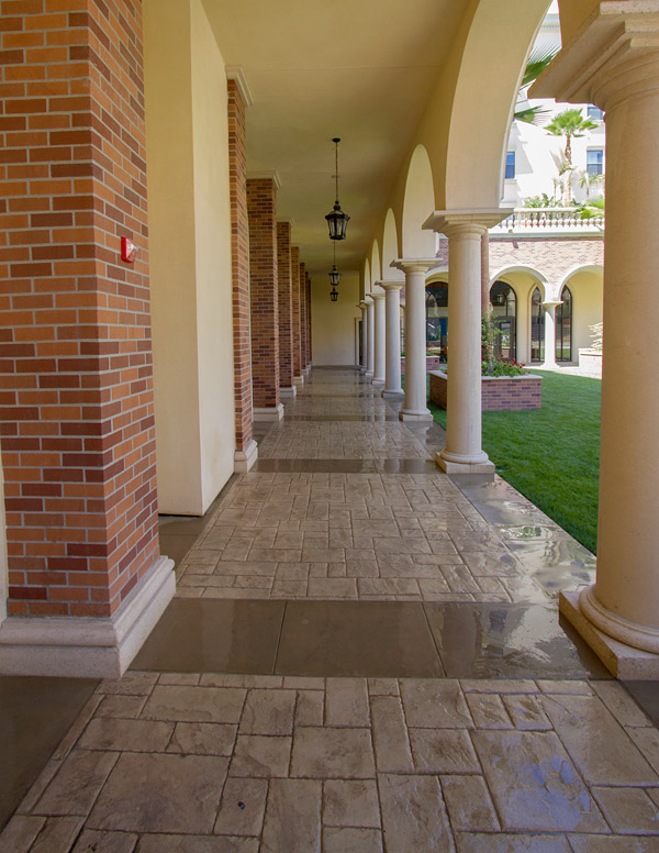 Ashlar Stamp Walkway - Photos courtesy of Proline Decorative Concrete Systems