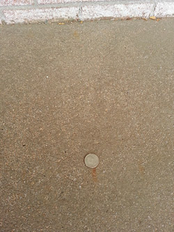 Concrete with uneven exposed aggregate surface