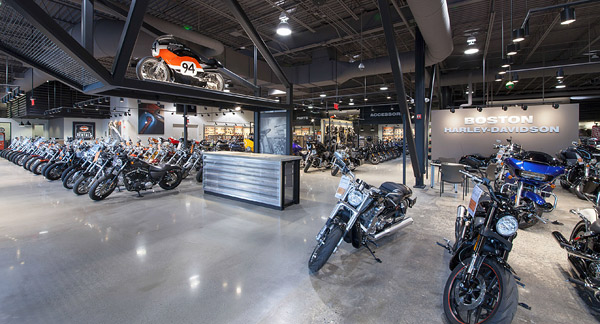 Boston Massachusetts Harley Davidson showroom