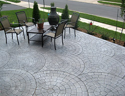 Stamped concrete patios, Stafford Virginia