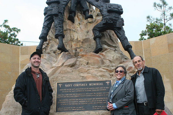 Navy Corpsmen Memorial Concrete Statue at Camp Pendleton