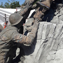 Detail of soldier at the Navy Corpsmen Memorial at Camp Pendleton