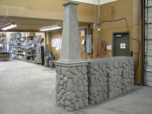 ICF Rock Pedestal made of concrete that almost snap together.