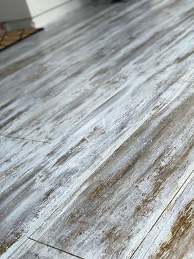 Concrete that looks like wood with a rustic flair.