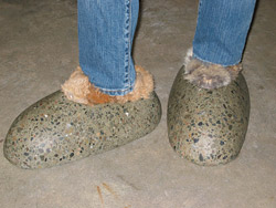 concrete shoes slippers