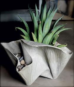 fabric formed concrete planter