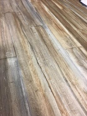 Concrete that has been made to look like real wood