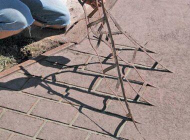 placing concrete stencils