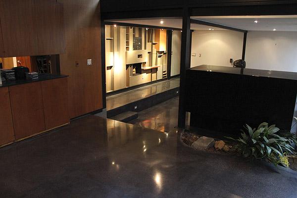 Refurbishing A Black Concrete Floor In
