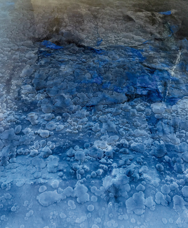 close up of blue and grey color mica pigments