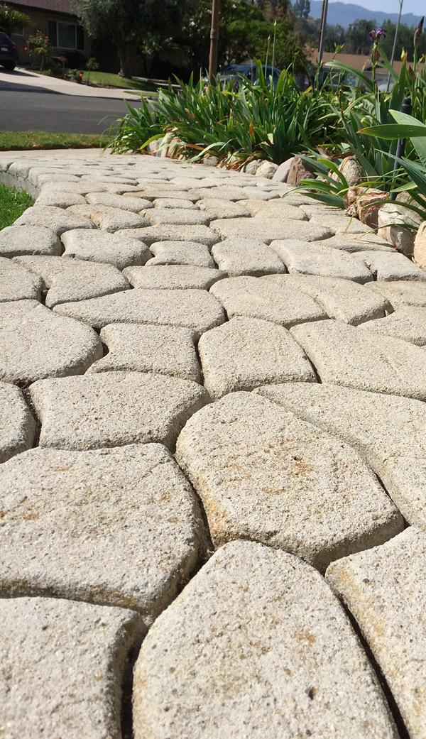 stamped textured pathway