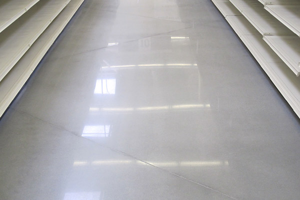 polished concrete floor grey