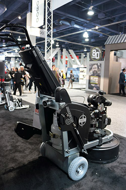 HTC propane floor grinder - HTC (www.htc-floorsystems.com) launched its first propane grinder at the show, the 800 RXP.