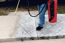ncrete Systems (www.increte.com), the decorative concrete division of Euclid Chemical, is Renovate, a two-component microtopping that can restore old, tired-looking stamped concrete, mask repairs or change the color of any slab concrete surface.