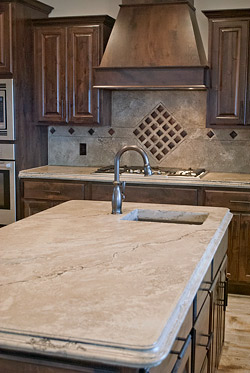 Light brown concrete countertop that has a marble look by Ben Ashby.