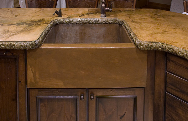 A concrete kitchen sink and countertop by Ben Ashby