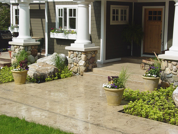 concrete patio with seal coat