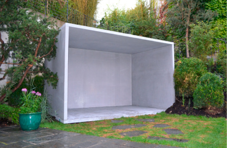 concrete structure of smoking room