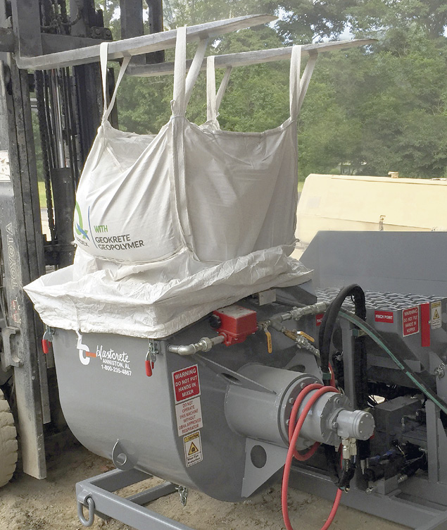 With OSHA getting ready to crack down on silica dust exposure, the problem of dust from products being poured into a mixer will only increase. The DustAway, which keeps dust from escaping, can be adapted to most large batch mixers.